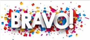 Félicitations et Bravo !