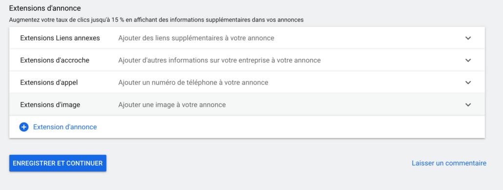 Extensions d'images Google Ads niveau campagne